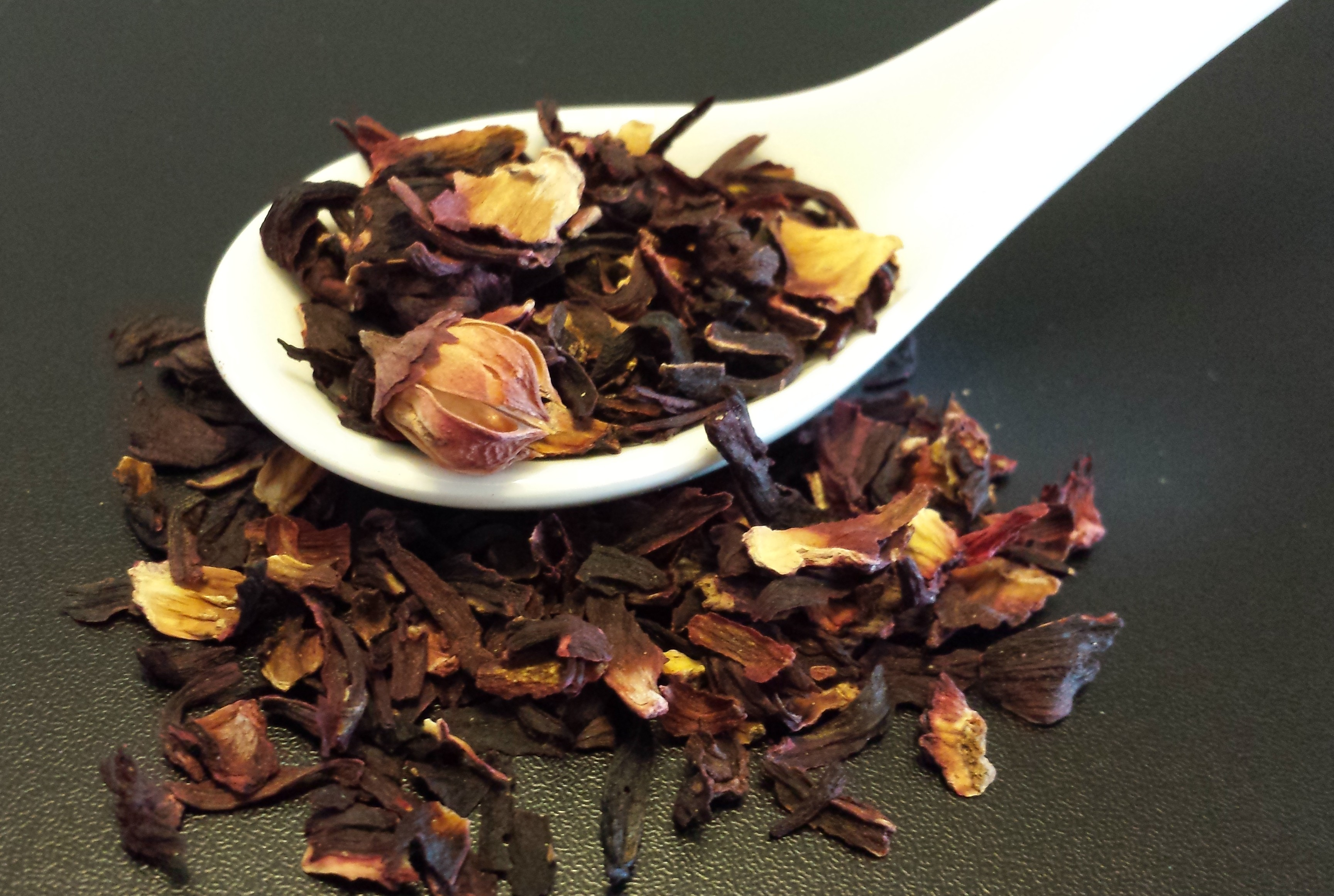 Hibiscus, tisane, herbal tea, caffeine free