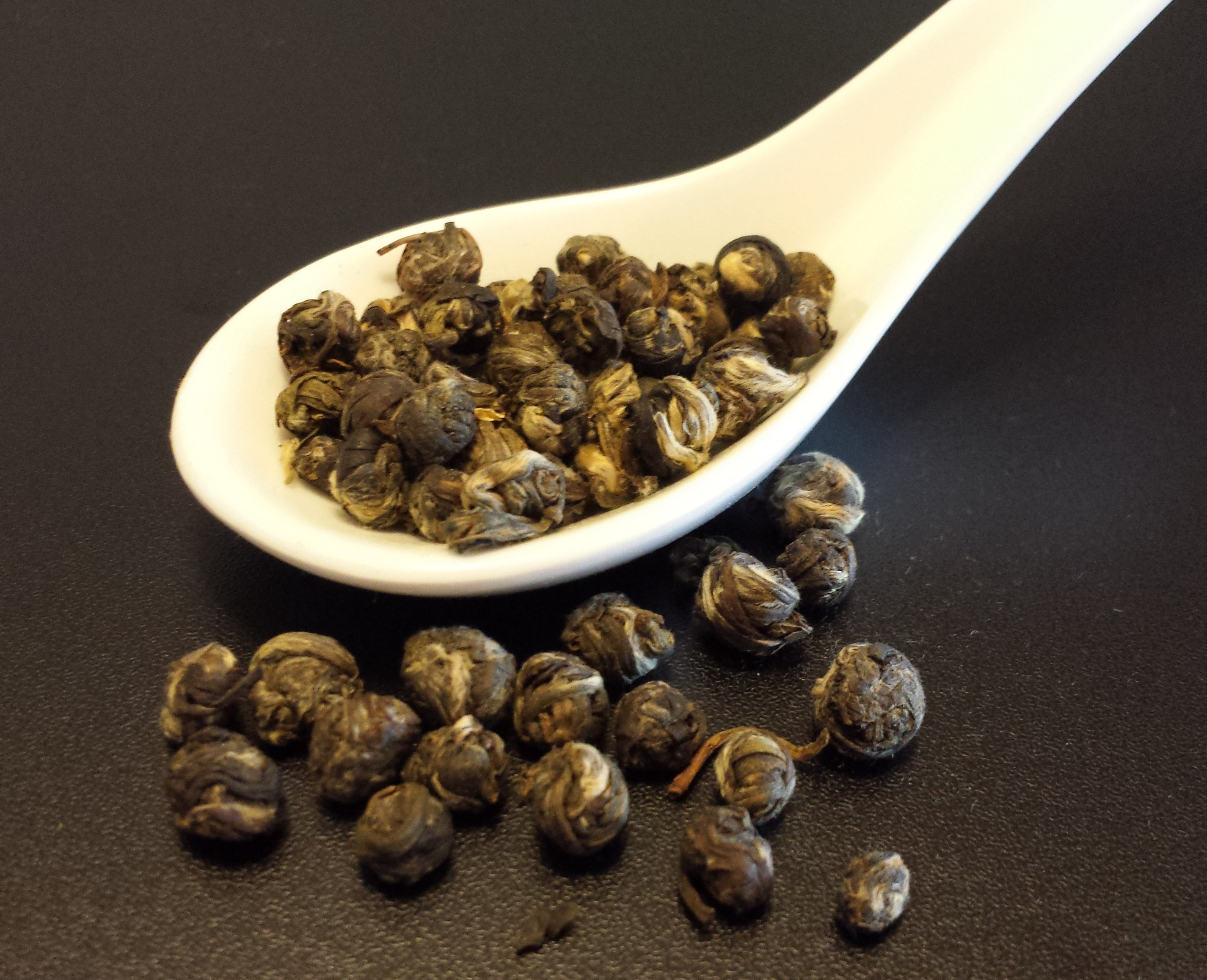 Jasmine Dragon Phoenix Pearls, hand-rolled tea, jasmine, green tea, Chinese tea