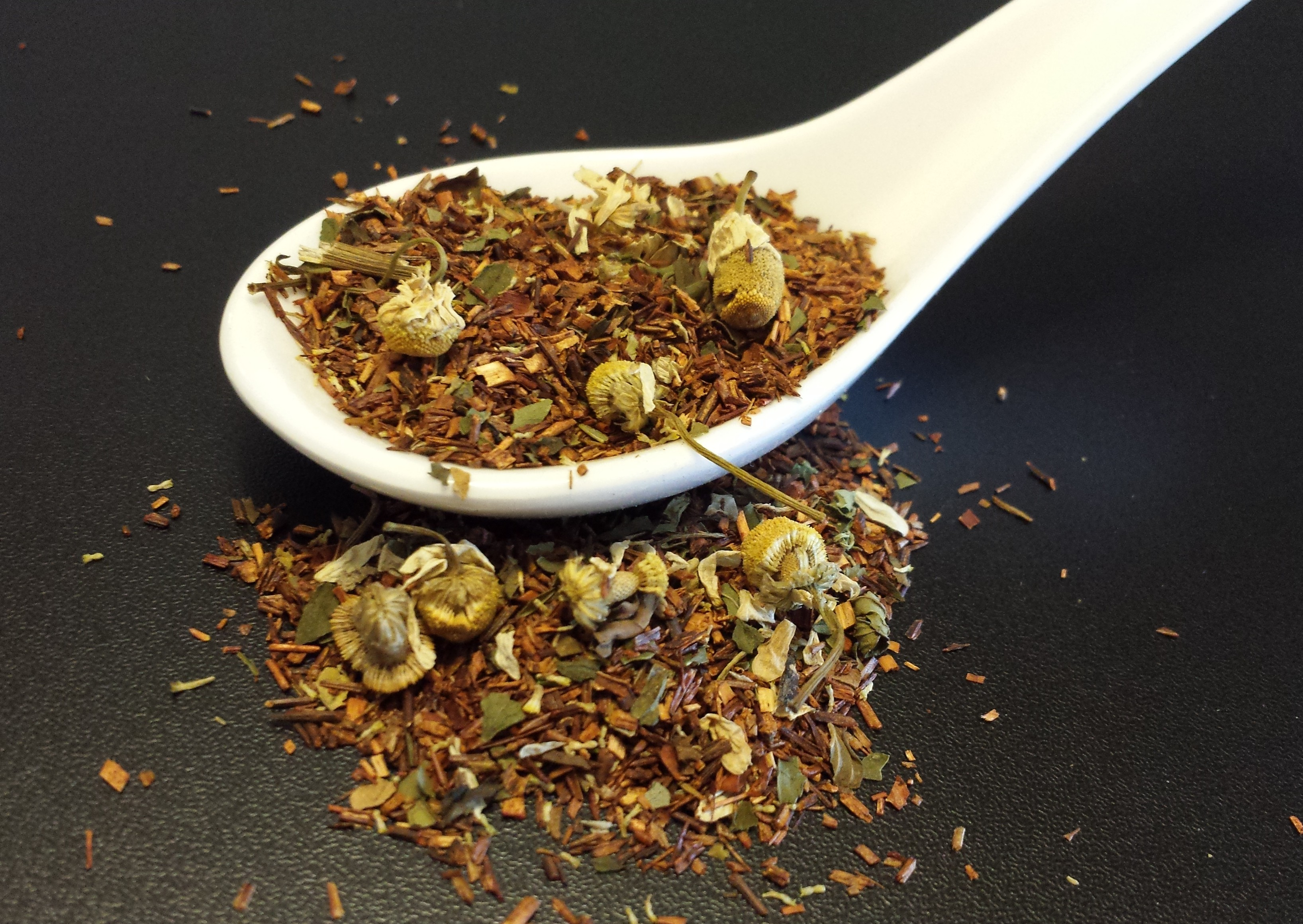 Vanilla Mint Rooibos, vanilla, mint, chamomile, rooibos, red tea, South Africa, tisane, caffeine free