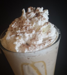 horchata, frappe, cinnamon, blend, blended, cold drink, coffee